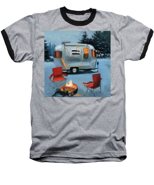 Christmas In The Snow Baseball T-Shirt