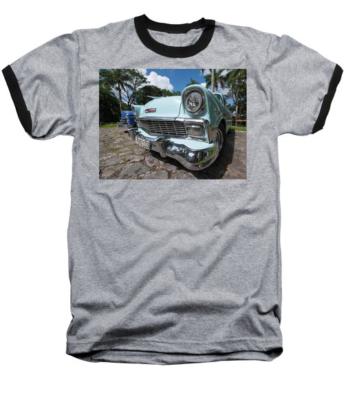 Classic Cuban Chevy Baseball T-Shirt