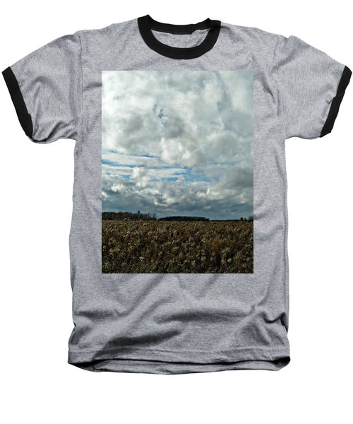 Clear Cloudy Day Baseball T-Shirt