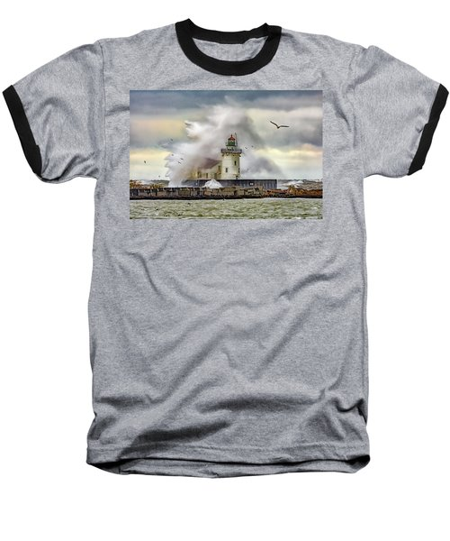Cleveland Lighthouse Storm  Baseball T-Shirt