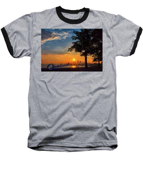 Cleveland Sign Sunrise Baseball T-Shirt