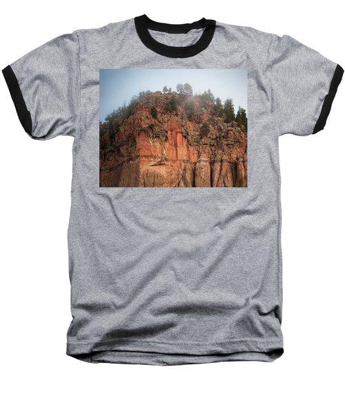 Cliff Face Hz Baseball T-Shirt