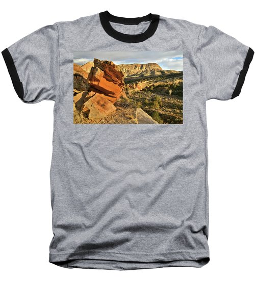 Cliffside Rock Cropping In Colorado National Monument Baseball T-Shirt