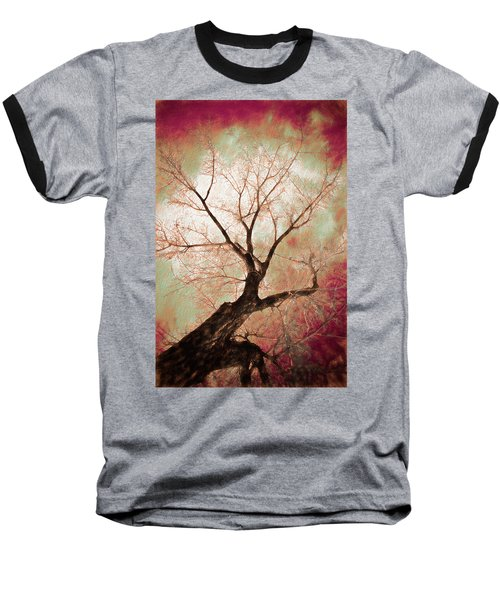 Baseball T-Shirt featuring the photograph Climbing Red Fiery by James BO Insogna