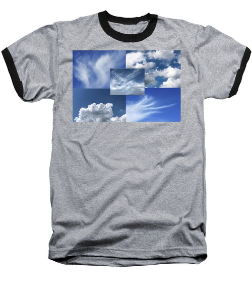 Cloud Collage Two Baseball T-Shirt