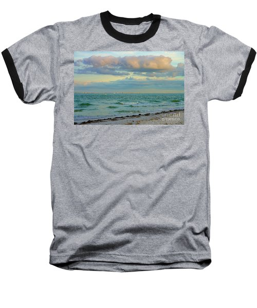 Clouds Over Sanibel Beach Baseball T-Shirt