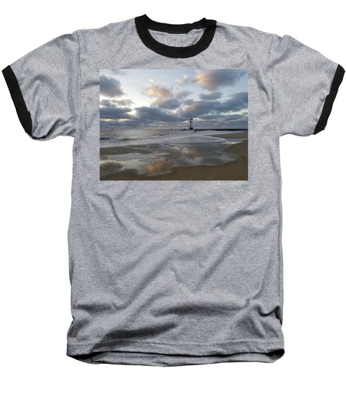 Cloud's Reflections At The Inlet Baseball T-Shirt