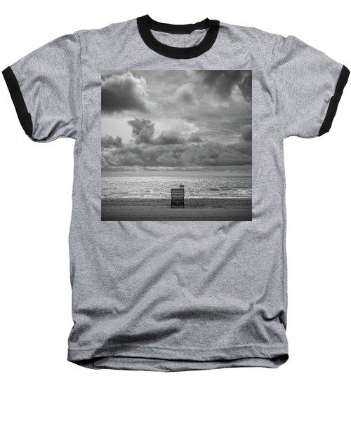 Cloudy Morning Rough Waves Baseball T-Shirt