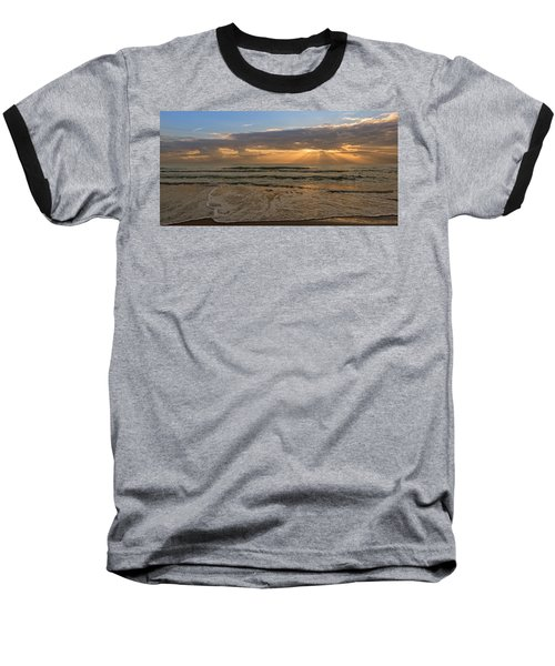 Cloudy Sunrise In The Mediterranean Baseball T-Shirt