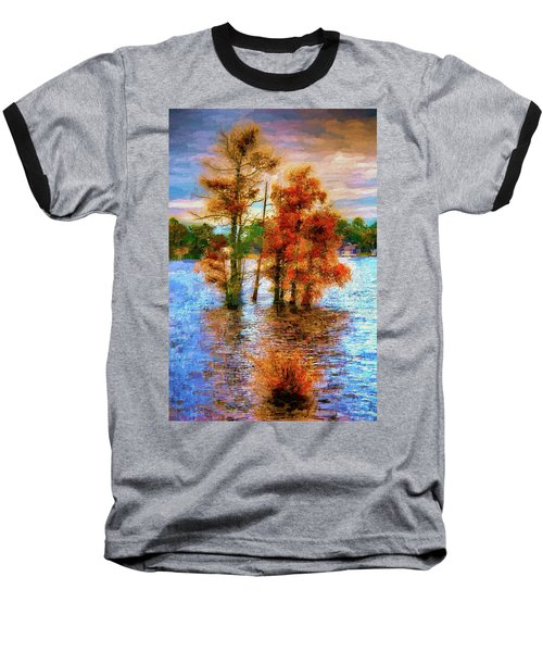 Coastal Autumn In North Carolina Ap Baseball T-Shirt