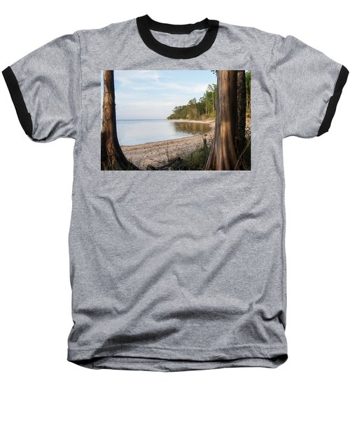 Coastal River Scene Baseball T-Shirt