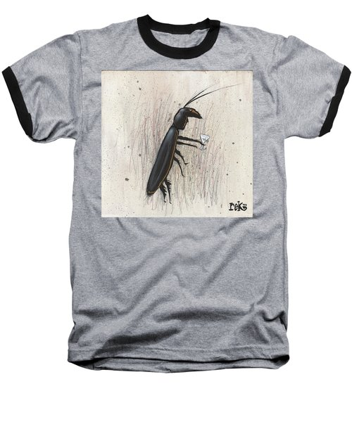 Cockroach With Martini Baseball T-Shirt