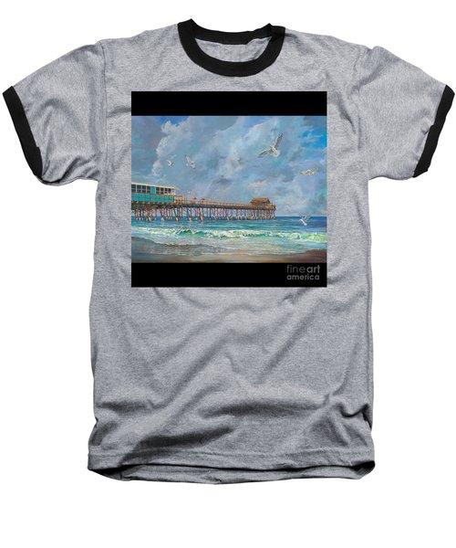 Cocoa Beach Pier Baseball T-Shirt