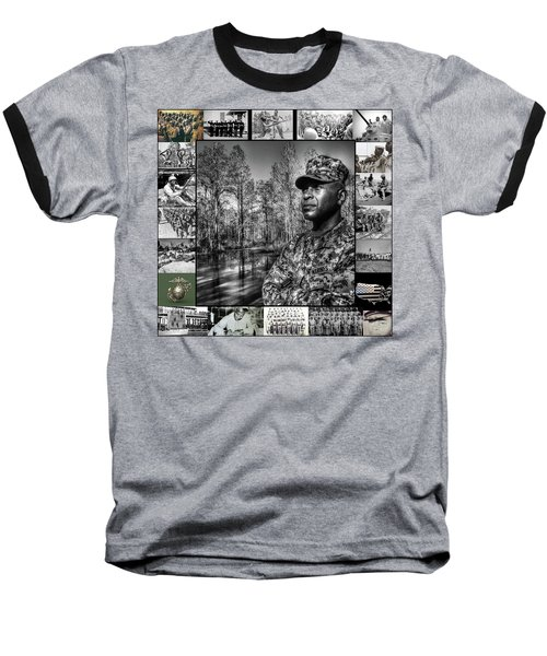 Colonel Trimble Collage Baseball T-Shirt