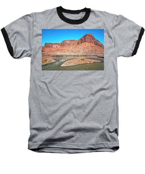 Baseball T-Shirt featuring the photograph Colorado River At Salt Wash by Andy Crawford
