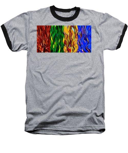 Colored Fire Baseball T-Shirt