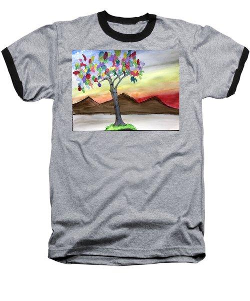 Colored Tree Baseball T-Shirt