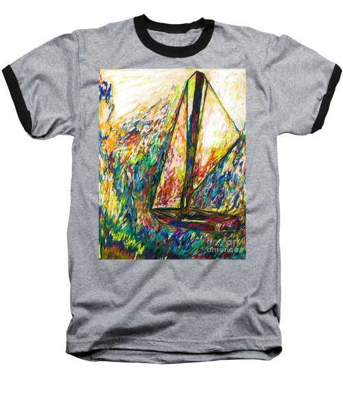 Colorful Day On The Water Baseball T-Shirt