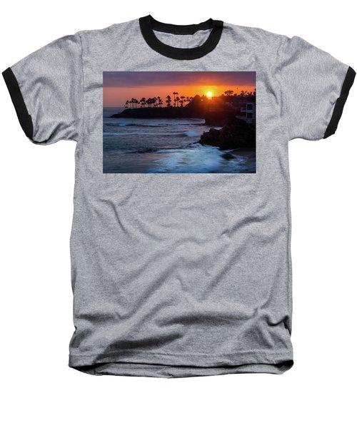 Colorful Laguna Beach Sunset Baseball T-Shirt