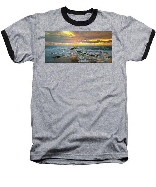 Colorful Morning Sky And Sea Baseball T-Shirt