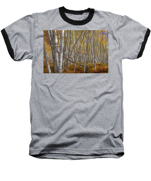 Baseball T-Shirt featuring the photograph Colorful Stick Forest by James BO Insogna
