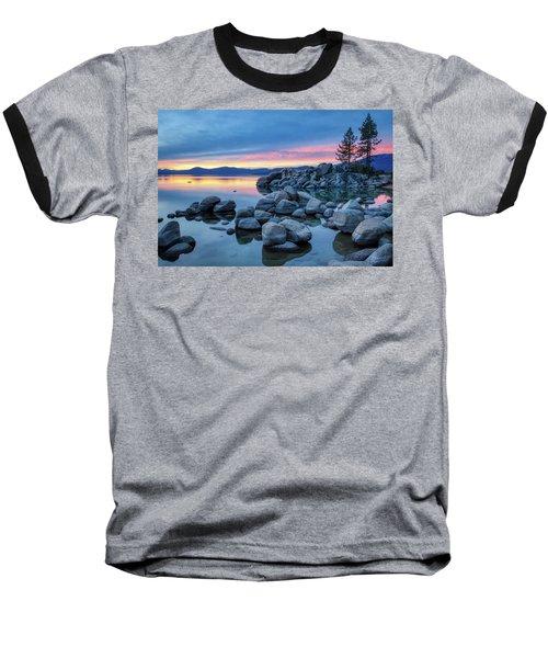 Colorful Sunset At Sand Harbor Baseball T-Shirt