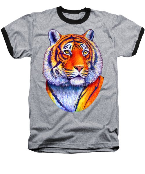 Colorful Tiger Baseball T-Shirt