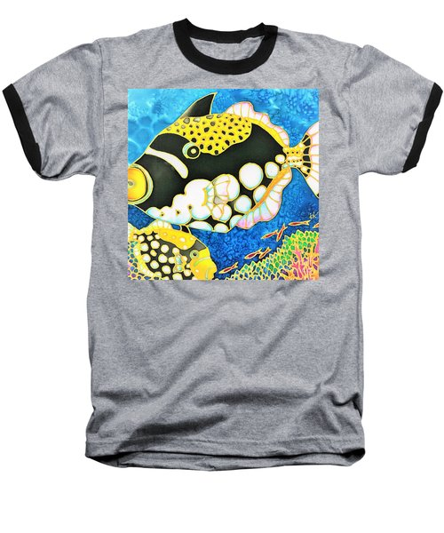 Baseball T-Shirt featuring the painting Colorful Tropics 18 by Hisayo Ohta