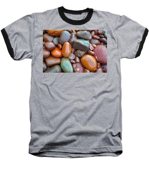 Colorful Wet Stones Baseball T-Shirt
