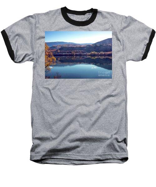 Baseball T-Shirt featuring the photograph Train Reflection by Mae Wertz