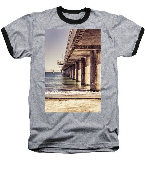 Columns Of Pier In Burgas Baseball T-Shirt