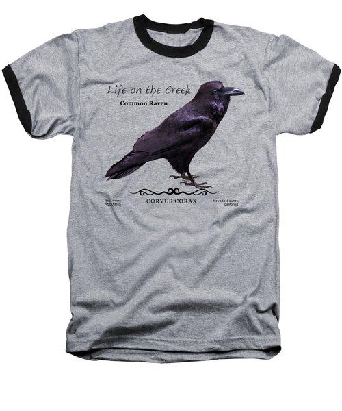 Common Raven Baseball T-Shirt