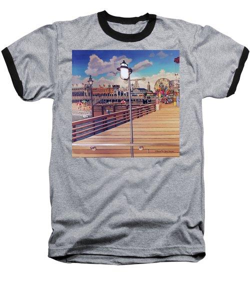 Coney Island Boardwalk Pillow Mural #1 Baseball T-Shirt