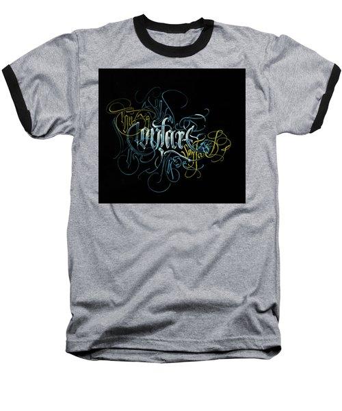 Contact. Calligraphic Abstract Baseball T-Shirt