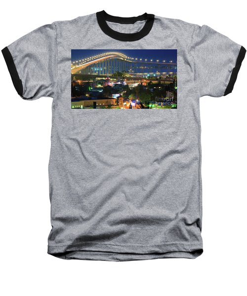 Coronado Bay Bridge Shines Brightly As An Iconic San Diego Landmark Baseball T-Shirt