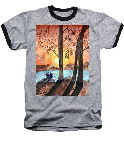 Couple Under Tree Baseball T-Shirt