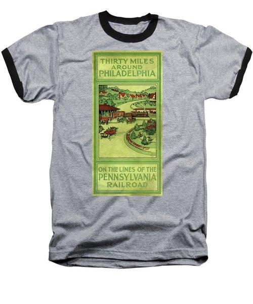Cover Of Thirty Miles Around Philadelphia Baseball T-Shirt