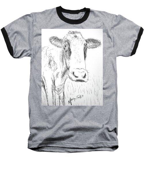 Cow Doodle Baseball T-Shirt