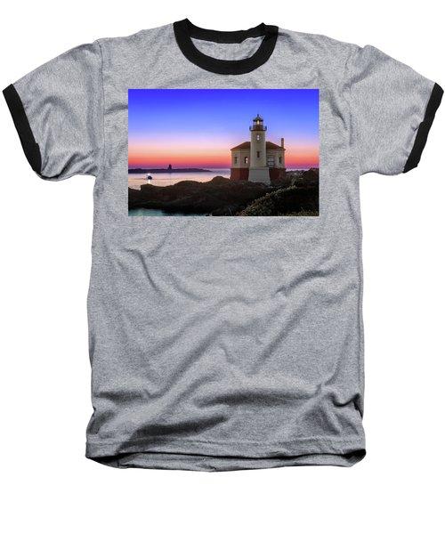 Crab Boat At The Bandon Lighthouse Baseball T-Shirt