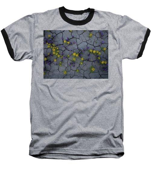 Cracked Blossoms Baseball T-Shirt