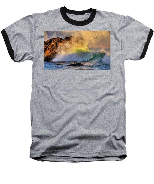 Crashing Wave Leo Carrillo Beach Baseball T-Shirt
