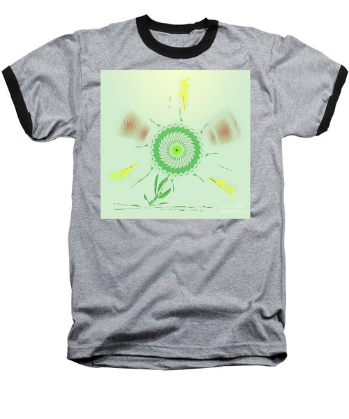 Crazy Spinning Flower Baseball T-Shirt