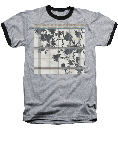 Cream Thistle Plaid Contrast Border Baseball T-Shirt