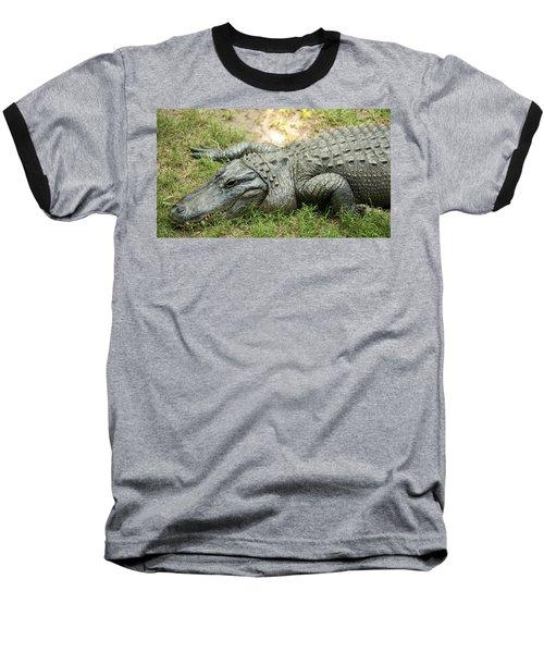 Crocodile Outside Baseball T-Shirt