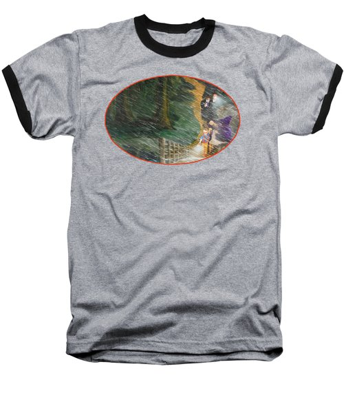 Crossing Timber Bridge Baseball T-Shirt