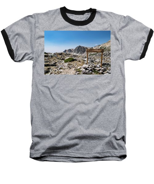 Crossroads At Medicine Bow Peak Baseball T-Shirt