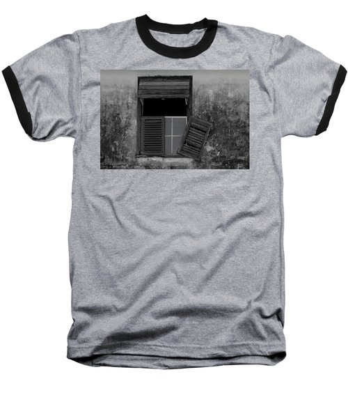 Crumblling Window Baseball T-Shirt