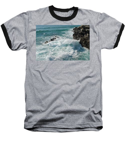 Crushing Waves In Porto Covo Baseball T-Shirt