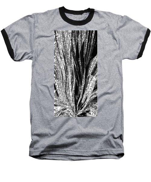Crystal Floral Black Opposite Baseball T-Shirt
