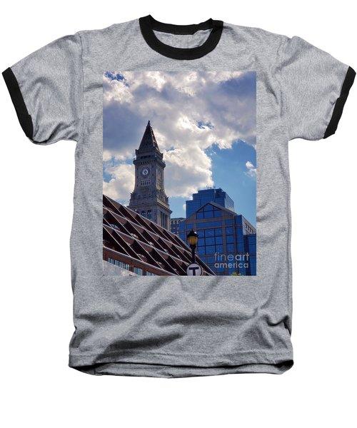 Custom House Clock Tower Baseball T-Shirt